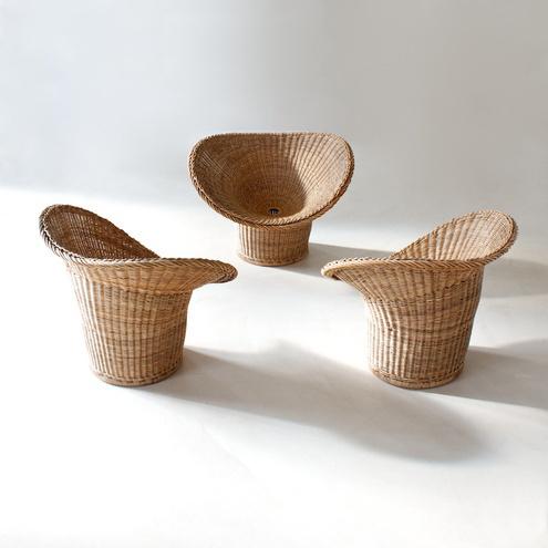 Modern xx egon eiermann korbsessel wicker chair for Korbsessel modern