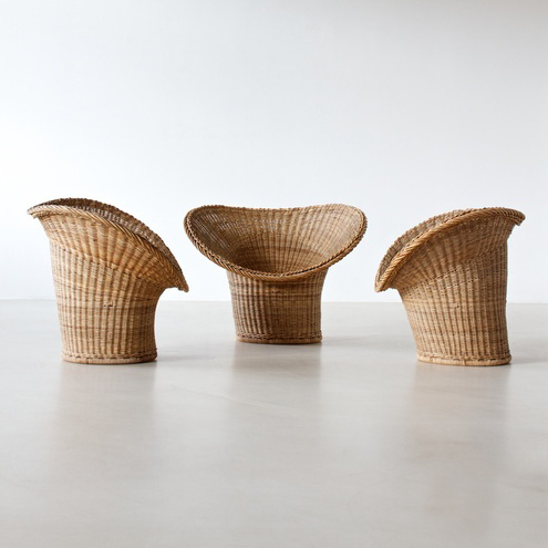 modern xx egon eiermann korbsessel wicker chair. Black Bedroom Furniture Sets. Home Design Ideas