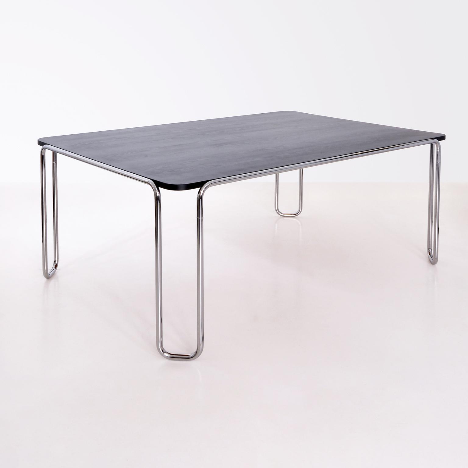 modern xx german modernism stahlrohr schlaufentisch tubular steel table. Black Bedroom Furniture Sets. Home Design Ideas